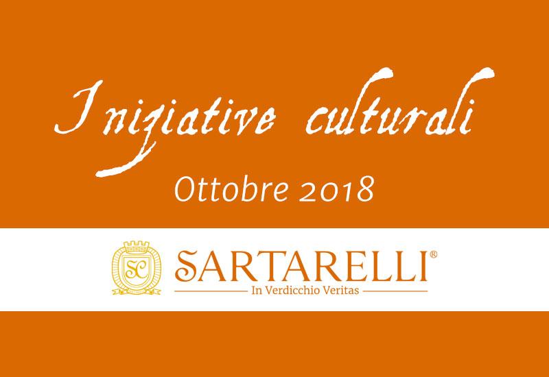 Le iniziative culturali di ottobre